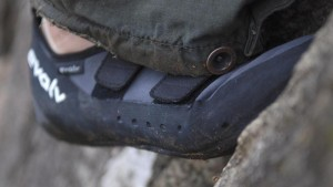 This is a cardinal sin in climbing having dirty rock shoes. Not only do you make the route dirty for the next climber, that high performance rubber you paid so much for won't work when covered in mud.