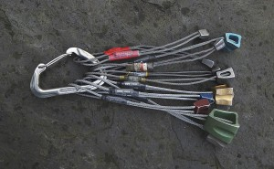 Too many wires racked onto a single karabiner will make it hard to select the right one and make you more prone to drop wires off the karabiner as well.