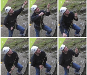 The correct belaying sequence.