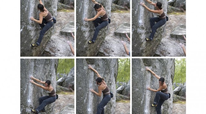 Lay backing a delicate groove in fontainebleau