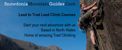 Learn to lead climb courses in North Wales with Snowdonia Mountain Guides